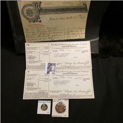 "1895 ""Fire Association of Philadelphia"" Invoice; 1941 Invoice ""The Mutual Benefit Life Insurance Com"