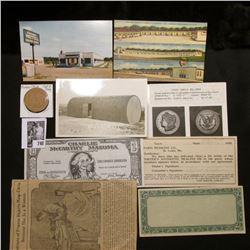 "Prestamped Scrip or note; ""Charlie McCarthy Mazuma"" Banknote; 1905 Scrip from Paris Medicine Co., St"