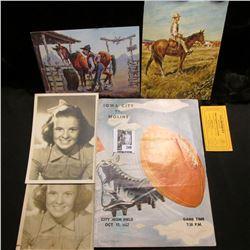 "Pair of ""Mary Lee"" (Cow Girl) Black & white movie stills from the movie; Wild Wild West Birthday Car"