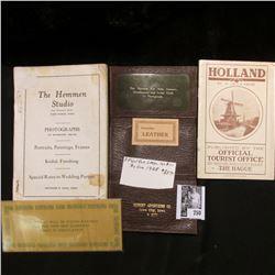 """Clare Community Cook Book"" (missing cover); booklet (1920 era) ""Holland"" by M.De La Prise, Publishe"