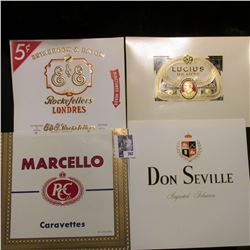 "(6) Different Old Cigar Box Labels in mint condition; & (5) ""Quasquicentennial 1857-1982 125 Yrs. Co"