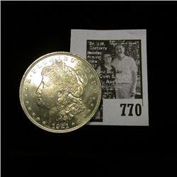 1921 P U.S. Morgan Silver Dollar, Brilliant Uncirculated.
