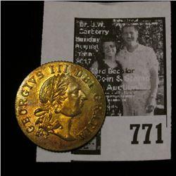 "1797 ""In Memory of the Good Old Days"", ""Georgius III Dei Gratia"", Great Britain Token, Brilliant Unc"