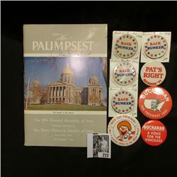 "November, 1961 ""The Palimpsest"" autographed by Charles F. Griffin, Druggist and politician from Mapl"