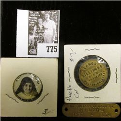 "Celluloid Pin-back ""Blessed Julie Billiart Sisters of Notre Dame De Namur First American Foundation"