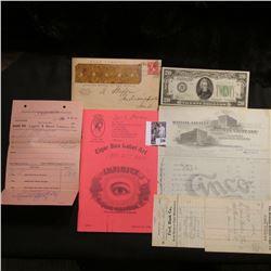 "1898 Cancelled ""Star Tobacco"" Cover; Book: ""Cigar Box label Art""; (5) Iowa Cigar  store Receipts, 19"