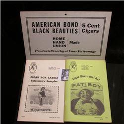 "Books: ""Cigar Box Labels Salesman's Samples"" & ""Cigar Box Label Art"" ; (5) Cigar Store Receipts, Ame"