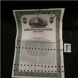 "1945 $1000 Bond from ""Chicago, Saint Paul, Minneapolis and Omaha Railway Company Equipment Trust of"