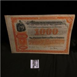"$1000 ""Trust Receipt Under Public Debt Adjustment Co. Contract for the Settlement of the Arkansas Ra"
