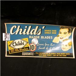 """Childs' Double Edge Single Edge Razor Blades…10c"" Window transfer sign; & 1921 P U.S. Morgan Silver"