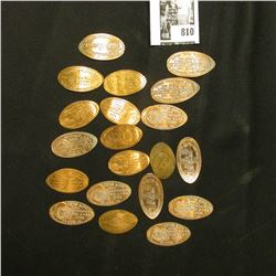 Group of (20) various elongated Lincoln Cents.