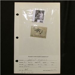 RW18 1951 Federal Migratory Bird Hunting and Conservation Stamp, Artist signed, LH, OG, VF.