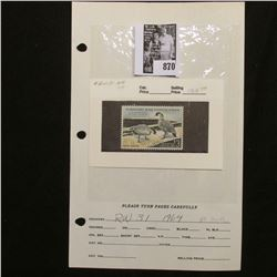 RW31 1964 Federal Migratory Bird Hunting and Conservation Stamp, no gum.