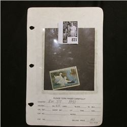 RW37 1970 Federal Migratory Bird Hunting and Conservation Stamp, not hinged. unsigned.