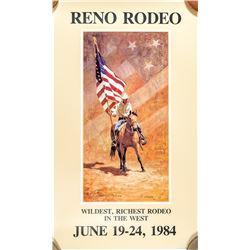 1984 Reno Rodeo Poster