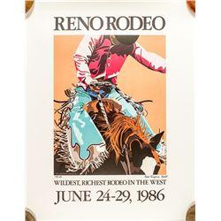 1986 Reno Rodeo Poster
