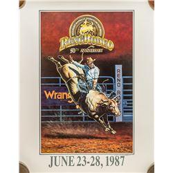1987 Reno Rodeo Poster