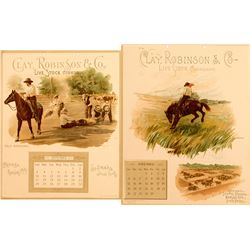 Clay, Robinson & Co. 1893 Live Stock Calendar Pages