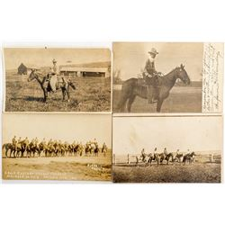 Cowboy Ranching Real Photo Post Cards