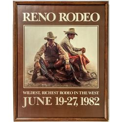 Framed 1982 Reno Rodeo Poster