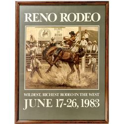 Framed 1983 Reno Rodeo Poster