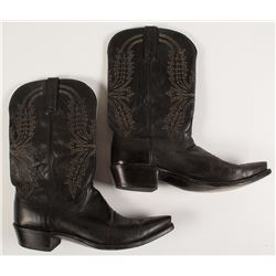 Lucchese Black Cowboy Boots