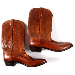 Lucchese Reddish Brown Cowboy Boots