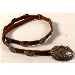 Old Hat Band with Silver Conchos