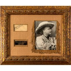 Framed Pawnee Bill Autograph and Photo