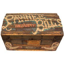 Pawnee Bill's Wooden Travel Trunk