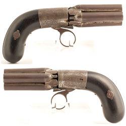Belgian Brevette 4 barrel Pepperbox revolver