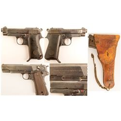 Beretta pistol model 1934 / F.B. Radom P.35 9MM semi-automatic pistols