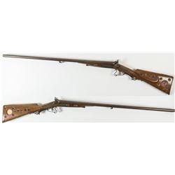 E. Th. Steinecke German Hammer Under Lever Engraved Shotgun 16 ga.
