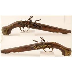 English Flintlock Pistol .52 cal. 18th-19th C