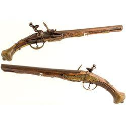 German Flintlock Pistol .60 cal.