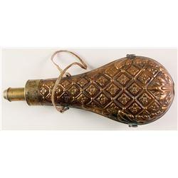 Ornate Mid-Size Powder Flask