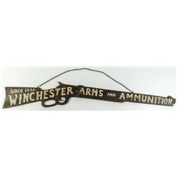 Winchester Antique Arms hanging advertising sign