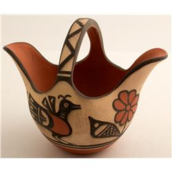 Basket Style Pot by Robert Tenorio