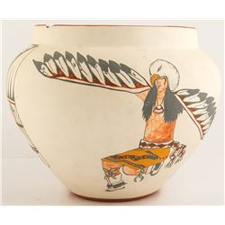 Hand Painted Pot by Pecos Rose