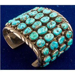 Kingman Turquoise Sterling Bracelet
