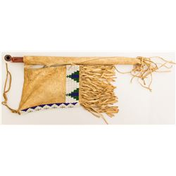 North Cheyenne Woman's Pipe Bag and Pipe