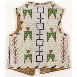 Small Fully Beaded Sioux Vest