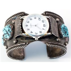 Turquoise Watch Band Cuff Bracelet.