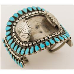 Vintage Navajo Turquoise Watch Bracelet