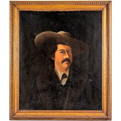 Oil Painting Portrait of Pawnee Bill