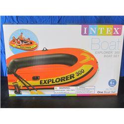 New Intex Explorer 300 boat set