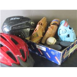 Assorted sports items