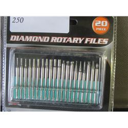 New 20 piece diamond rotary files