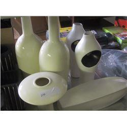 Vases 6 pieces