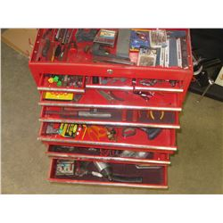 Red toolbox full of tools
